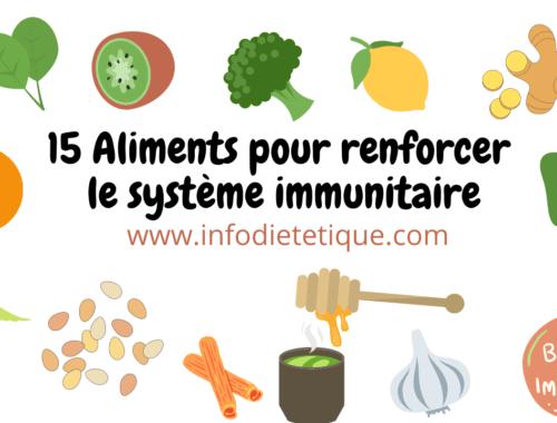 15 Aliments pour renforcer le système immunitaire