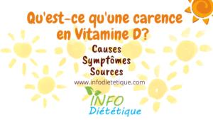 Qu'est-ce qu'une carence en vitamine D ?