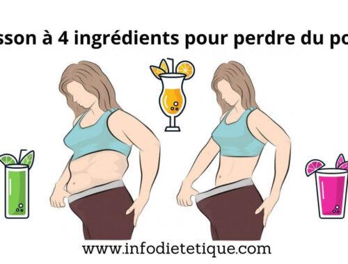 Boisson à 4 ingrédients pour perdre du poids